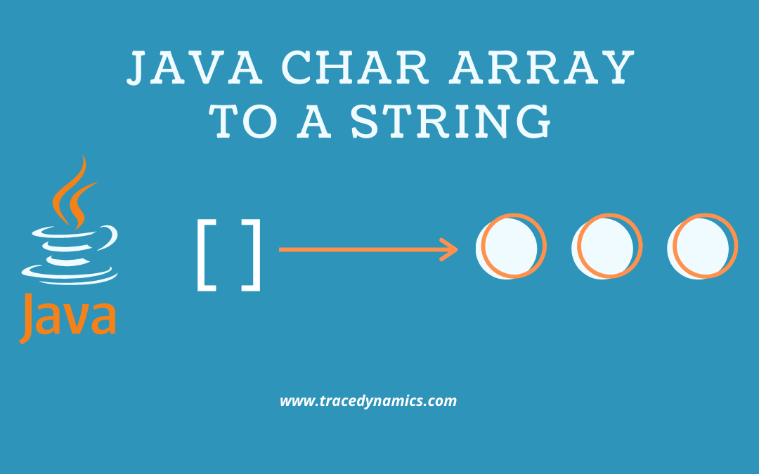 Convert Java Char Array to a String