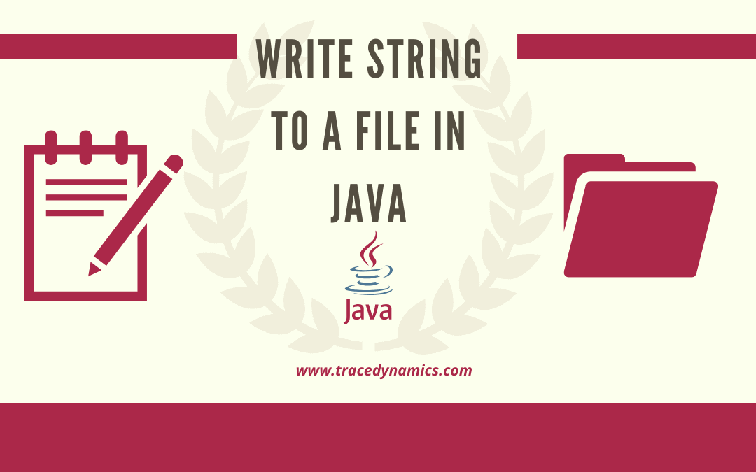 Write String to a File in Java