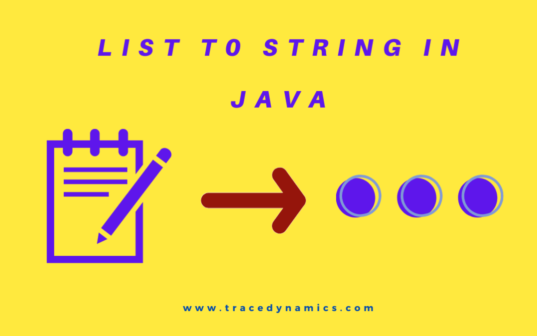 convert list to string in java